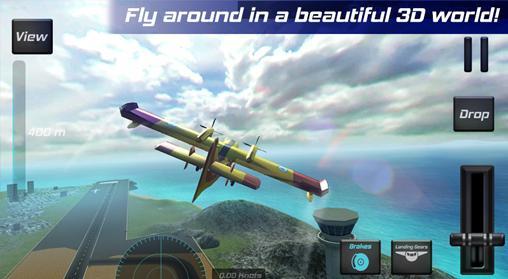 Simulator-Spiele Real pilot flight simulator 3D für das Smartphone