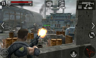 Third-person shooter games Frontline Commando in English
