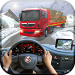 Uphill extreme truck driver 3D Symbol