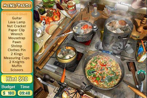 截图烹饪任务在iPhone