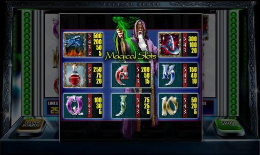Glücksspiele Magical slots für das Smartphone