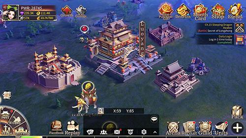 Online Strategiespiele Three kingdoms: Epic war auf Deutsch