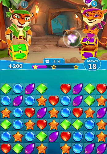 Arcade-Spiele Booty quest: Pirate match 3 für das Smartphone