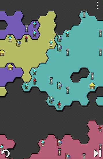Multiplayerspiele Antiyoy für das Smartphone