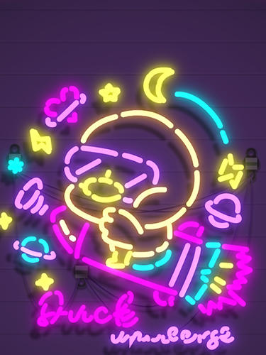Neon it! 3D light art puzzle in English