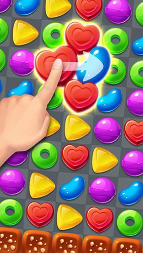Arcade-Spiele Candy fever für das Smartphone
