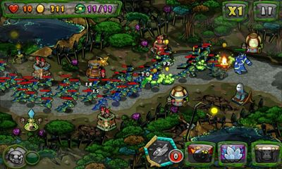 Strategiespiele Zombies vs Toys für das Smartphone