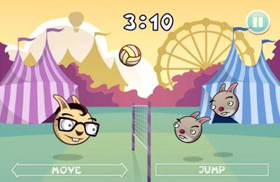Multiplayerspiele: Lade Hasen-Volleyball auf dein Handy herunter