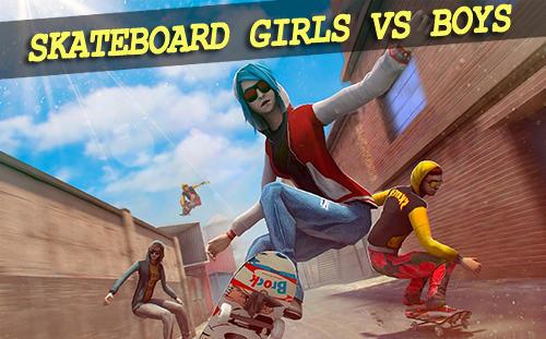 Skateboard: Girls vs boys Screenshot