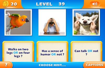 Screenshot Fangfragen auf dem iPhone