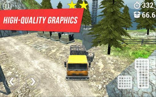 Simulator-Spiele Trucker: Mountain delivery für das Smartphone