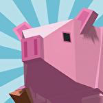 Cow pig run Symbol