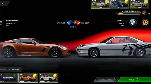 Racing games Forza street for smartphone