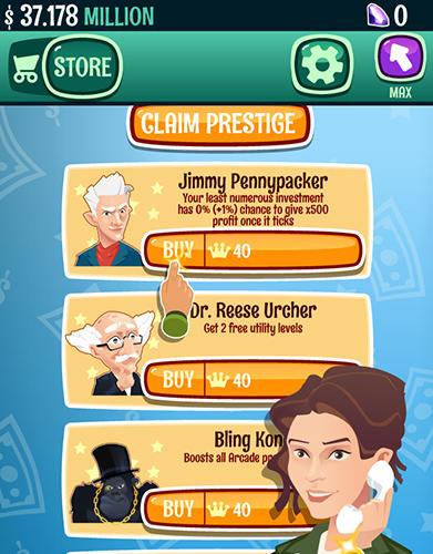 Arcade Millionaire to billionaire tycoon: Clicker game für das Smartphone