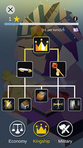 Strategiespiele Kingdoms arena: Turn-based strategy game für das Smartphone