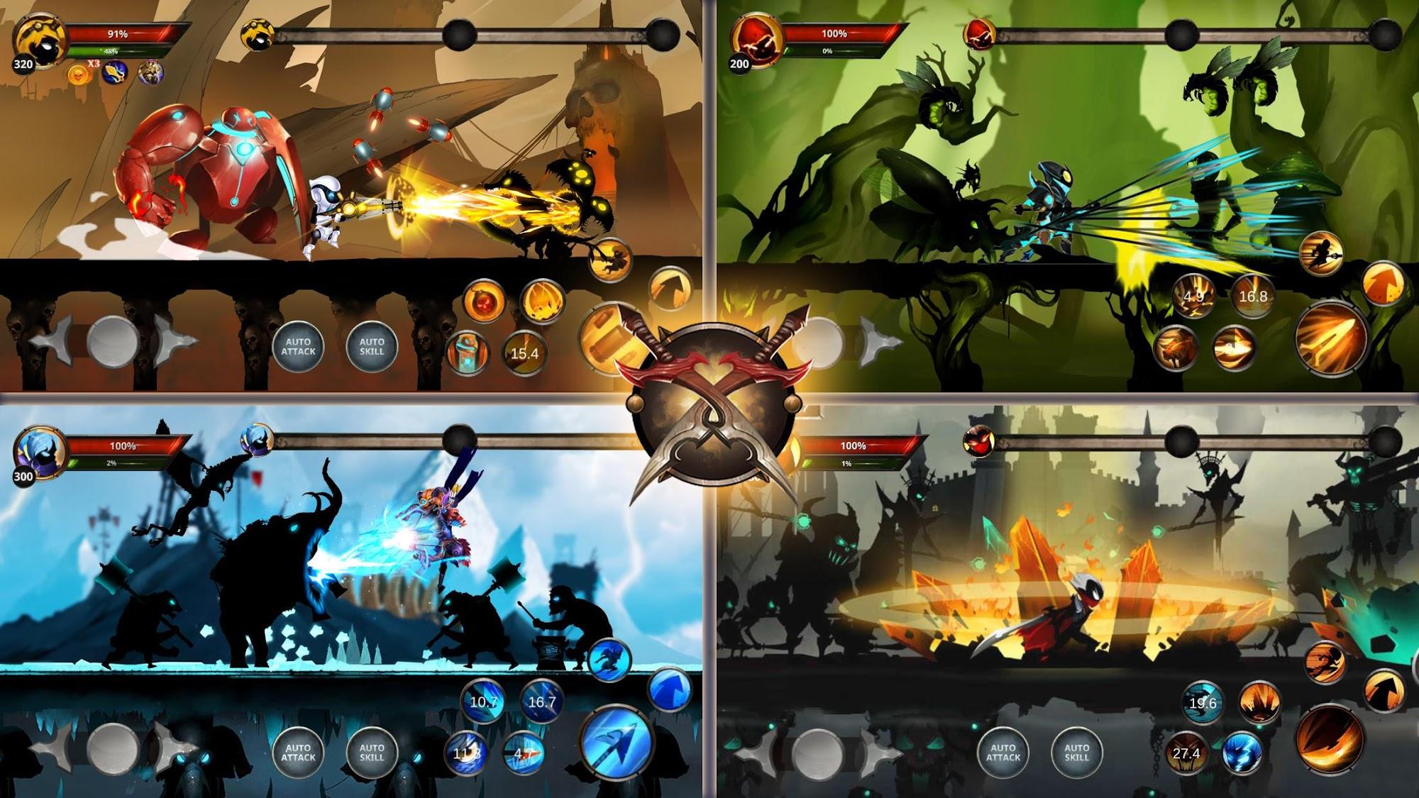 Shadow Hunter: Stickman Legends Offline RPG скриншот 1