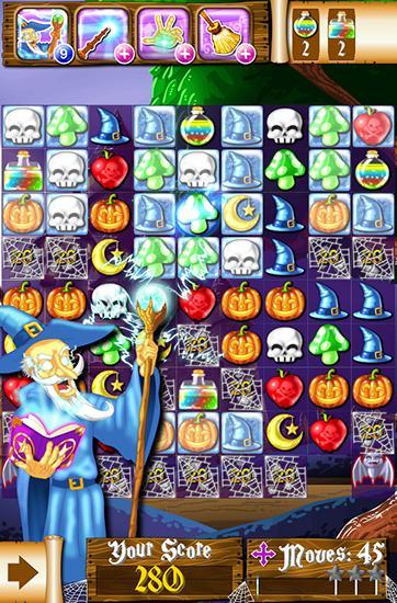 Arcade Witch puzzle: Match 3 game für das Smartphone
