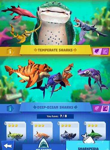 PvP Hungry shark: Heroes in English