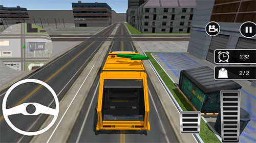 Garbage truck: Trash cleaner driving game screenshot 1