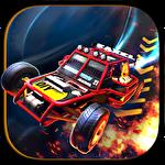 Extreme stunt car driver 3D Symbol