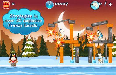 Captura de pantalla El asalto de los pingüinos locos en iPhone