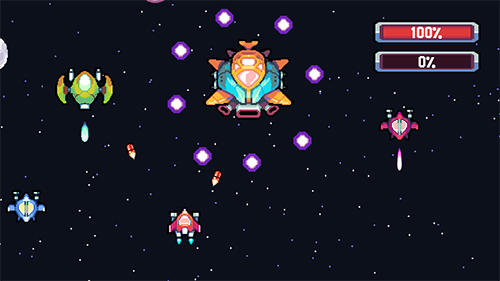 Pixel journey: 2D space shooter für Android