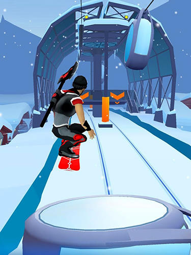 Snow racer: Mountain rush screenshot 4