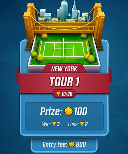 Sport Tennis ace: Free sports game für das Smartphone