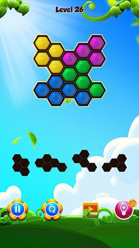 Шестиугольная блочная головоломка для Android