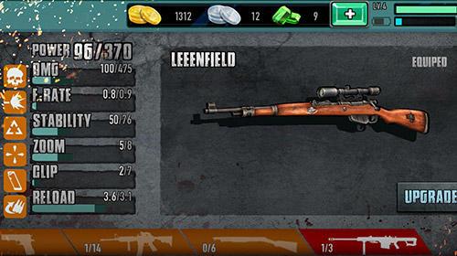 Actionspiele Zombie sniper 3D shooting game: The killer für das Smartphone