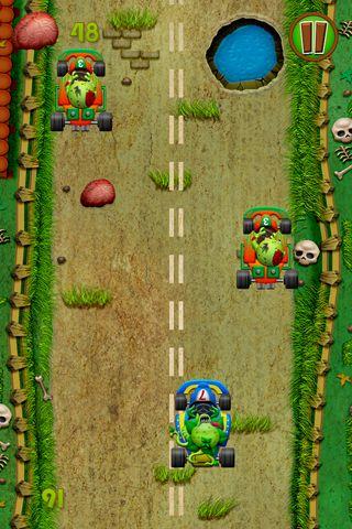 Carrera de zombi y plantas