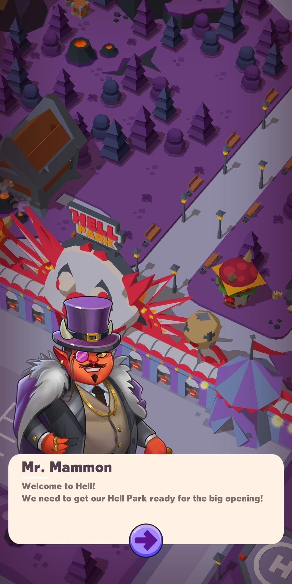 Hell Park - Tycoon Simulator captura de tela 1