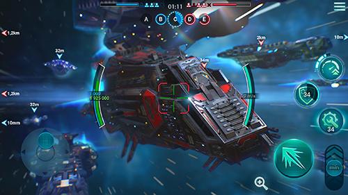 Simulator-Spiele Space armada: Galaxy wars für das Smartphone