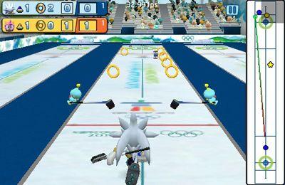 Screenshot Sonic bei den olympischen Winterspielen auf dem iPhone