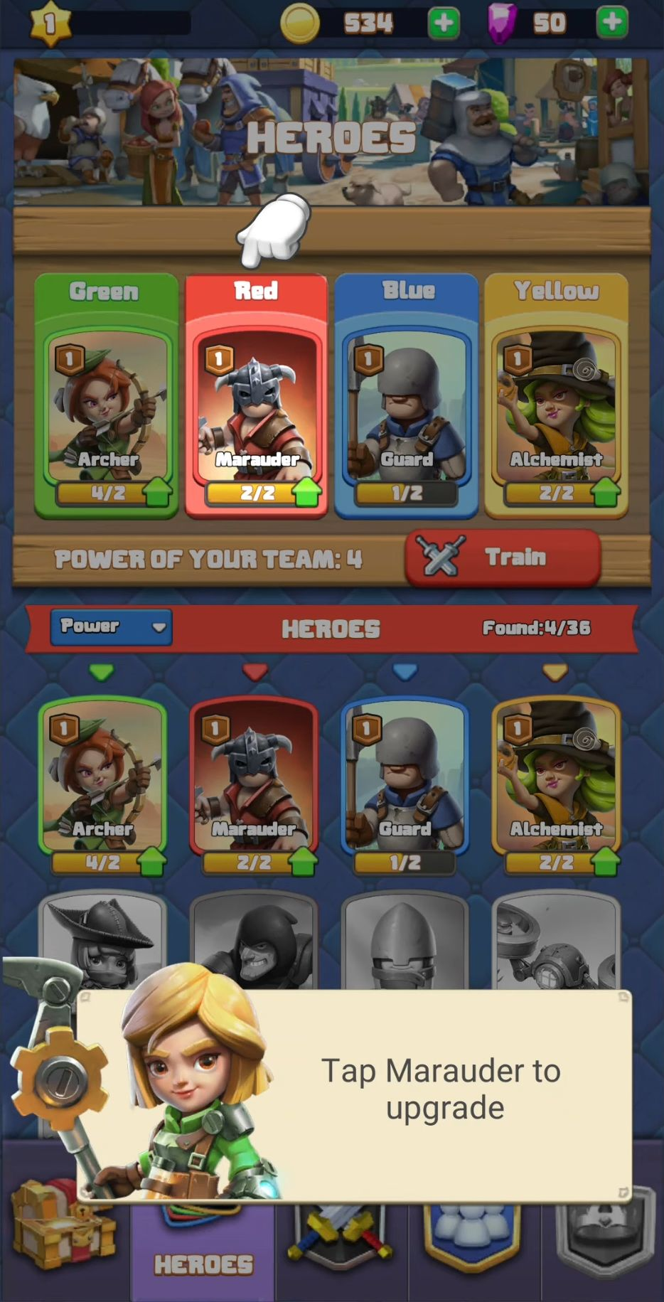 Puzzle Heroes captura de pantalla 1