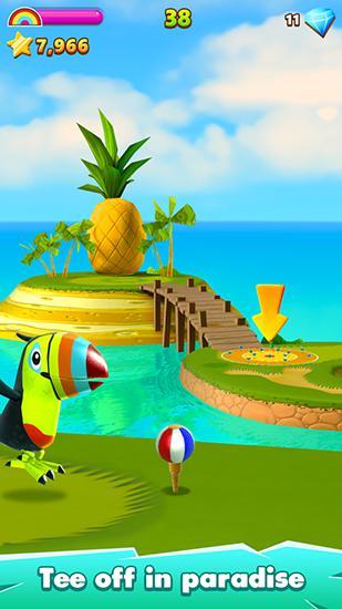 Sport Flick golf island für das Smartphone