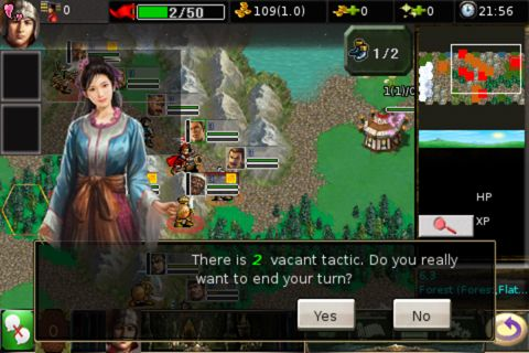 Captura de tela Guerra do Reino no iPhone