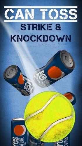 Can toss. Strike, knockdowncapturas de pantalla