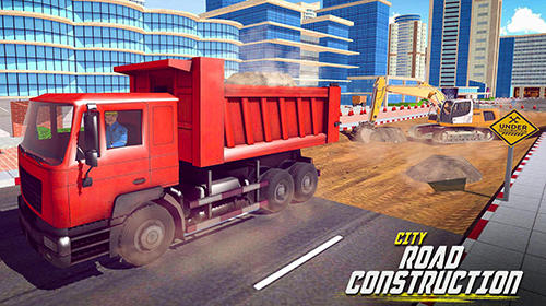 Excavator digging: Road construction simulator 3D captura de pantalla 1