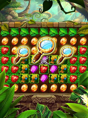 3 Gewinnt-Spiele Jungle crush diamond auf Deutsch