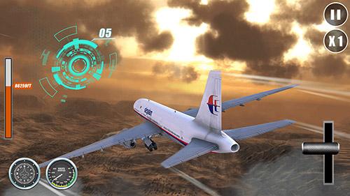 Flugsimulatoren Airplane go: Real flight simulation auf Deutsch