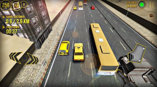 Simulation games Taxi car simulator 3D 2014 for smartphone