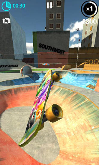 Simulation Real skate 3D für das Smartphone