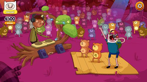 Arcade: download Rockstars of Ooo: Adventure time rhythm game to your phone
