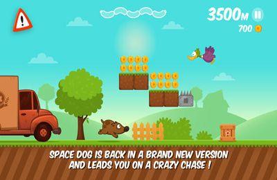 La carrera del perro espacial para iPhone gratis