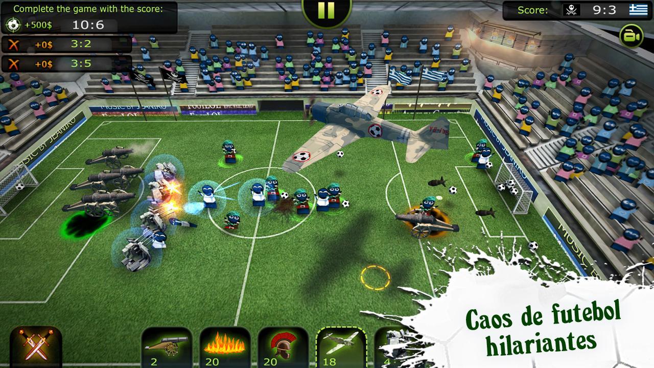 FootLOL: Crazy Soccer! Action Football game captura de tela 1