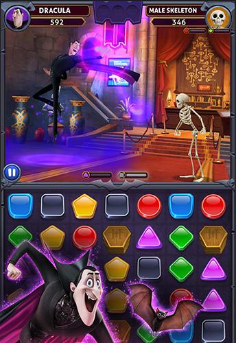 3 Gewinnt-Spiele Hotel Transylvania: Monsters! Puzzle action game auf Deutsch