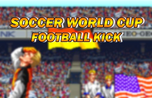 Soccer world cup: Football kick icono