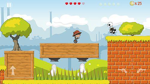 Мальчик на одноколесном велосипеде