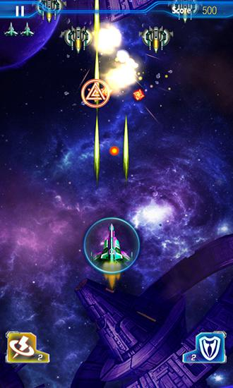 Flying games Raiden fighter: Galaxy storm in English
